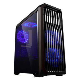 Gabinete Gamer Mid Tower Lateral em Acrílico sem Fonte USB 3.0 Preto BG-019 Bluecase