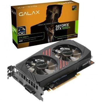 Placa de Vídeo Galax NVIDIA GeForce GTX 1050 Ti (1-Click OC) 4GB, GDDR5 - 50IQH8DSC7CB