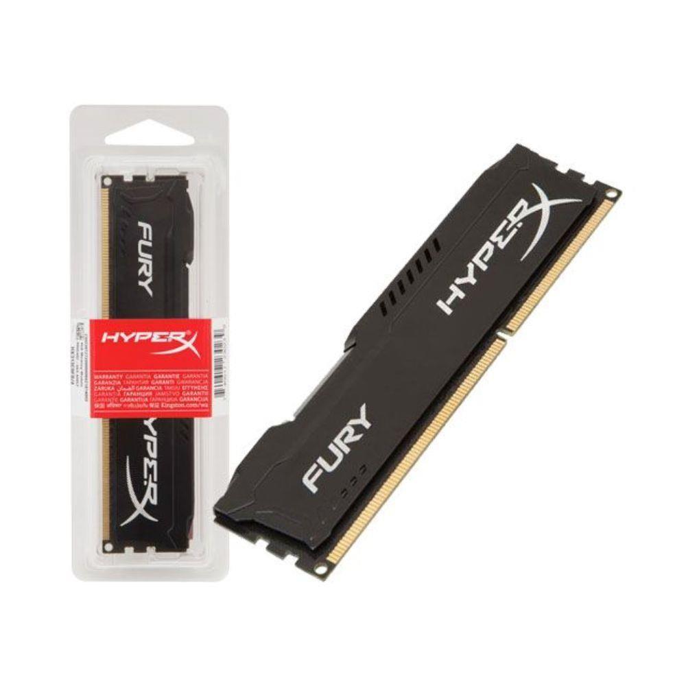 Memória Kingston HyperX FURY DDR3 4GB 1600Mhz CL10 Black Series - HX316C10FB/4