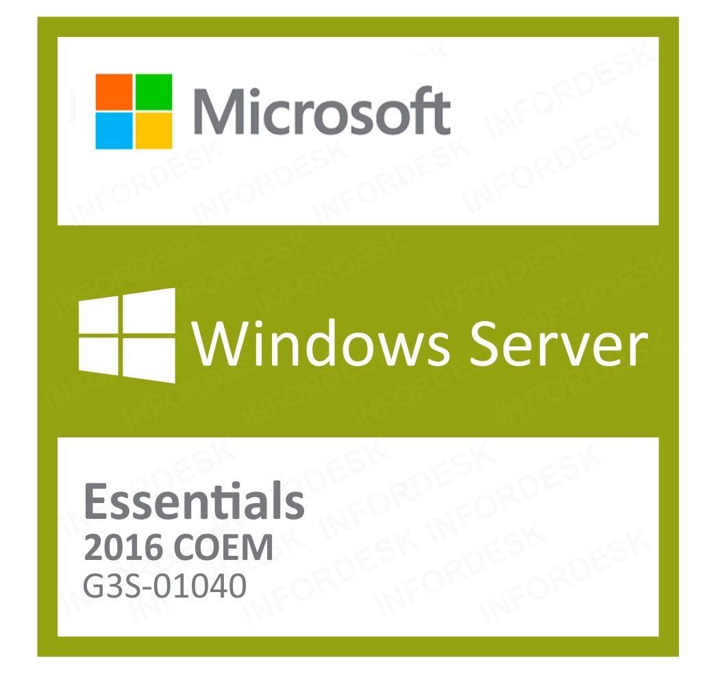 Microsoft Windows Server Essentials 2016 Português 64 Bits G3S-01040 COEM
