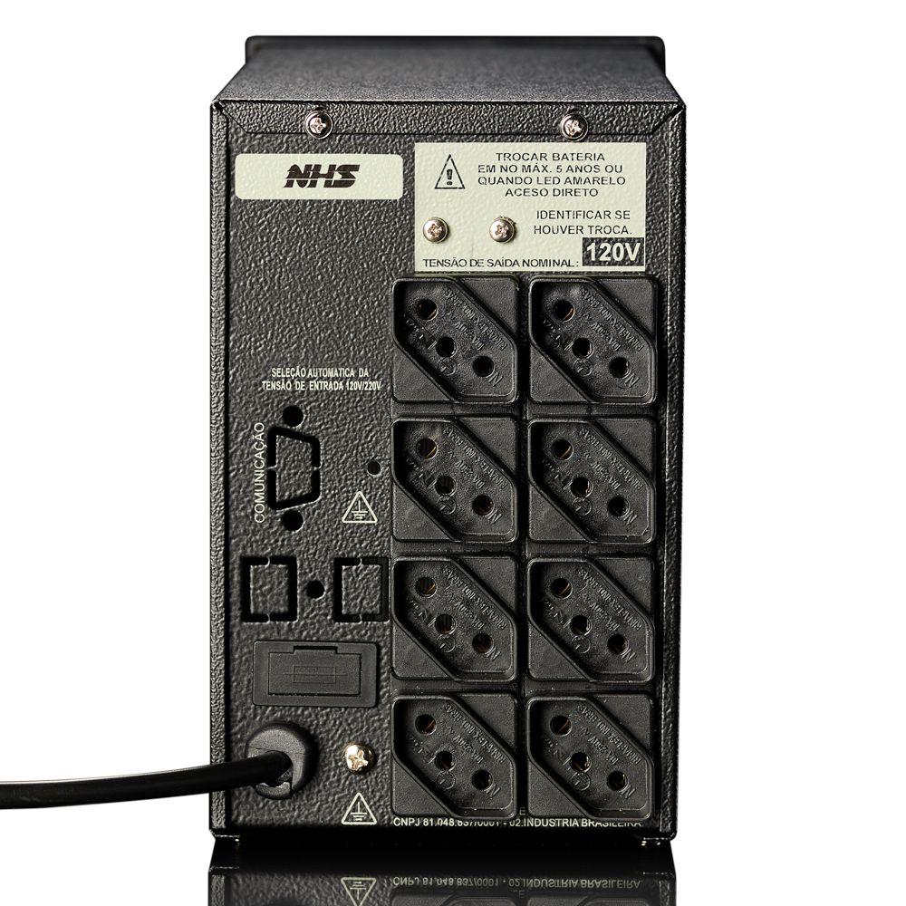 Nobreak NHS Compact PLUS III (1200VA C/ 2 Bat. 7Ah / USB) - 90.C0.012004
