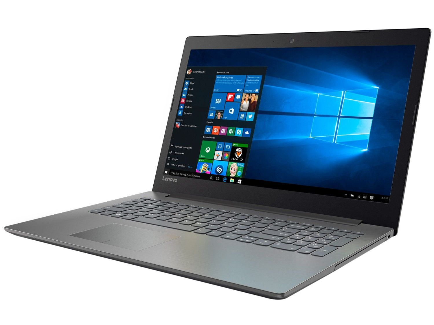 Notebook Lenovo Tela 15.6 Ideapad Intel N3350 4GB Dual Core 500GB W10 - Preto  81A30001BR
