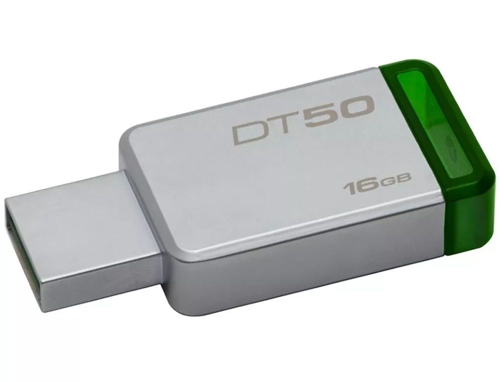 Pen Drive Kingston DataTraveler USB 3.1 16GB DT50/16GB - Verde