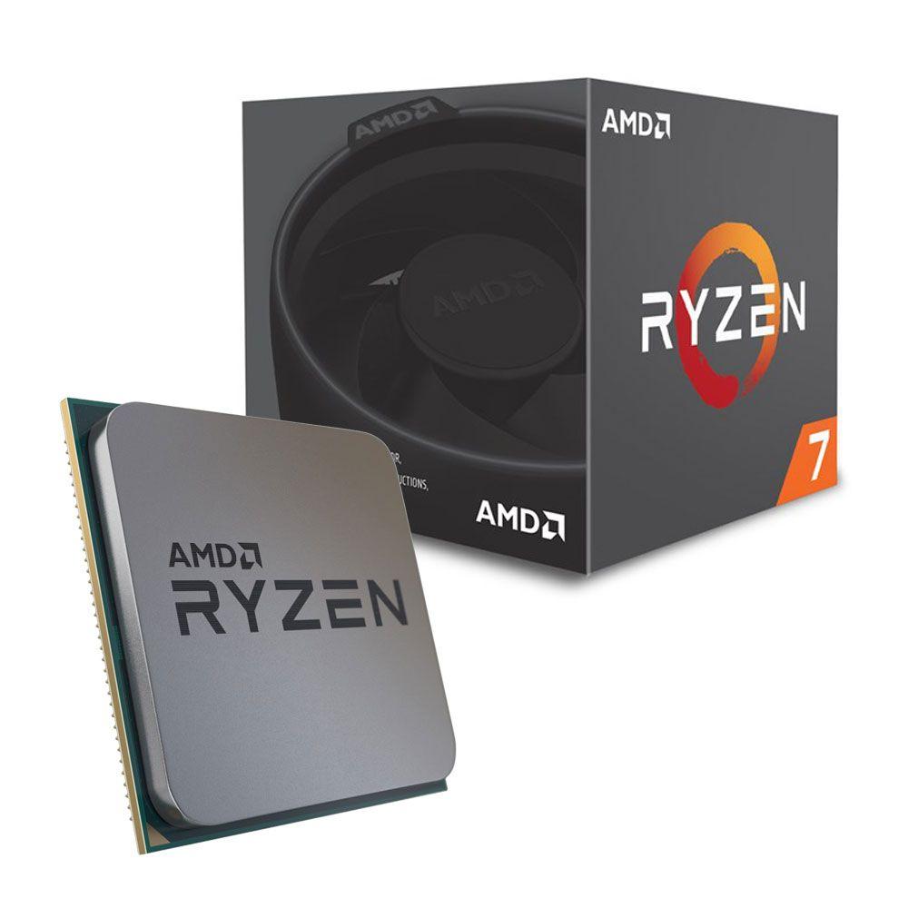 Processador AMD Ryzen 7 2700 Octa Core, 3.7GHz Cache 20MB (Max Turbo 4.1GHz) AM4 - YD2700B