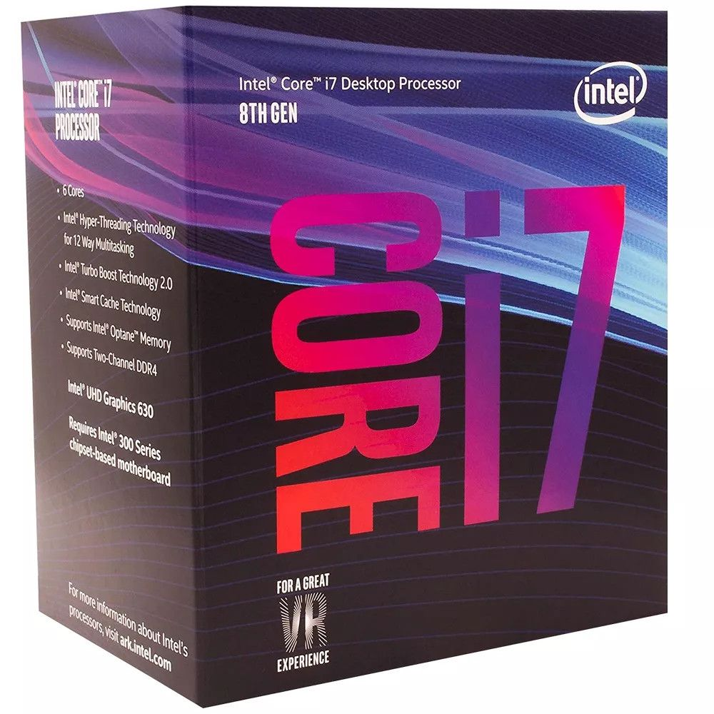 Processador Intel Core i7-8700 Coffee Lake 8a Ger. 12MB, 3.2GHz (4.6GHz Max Turbo) - BX806