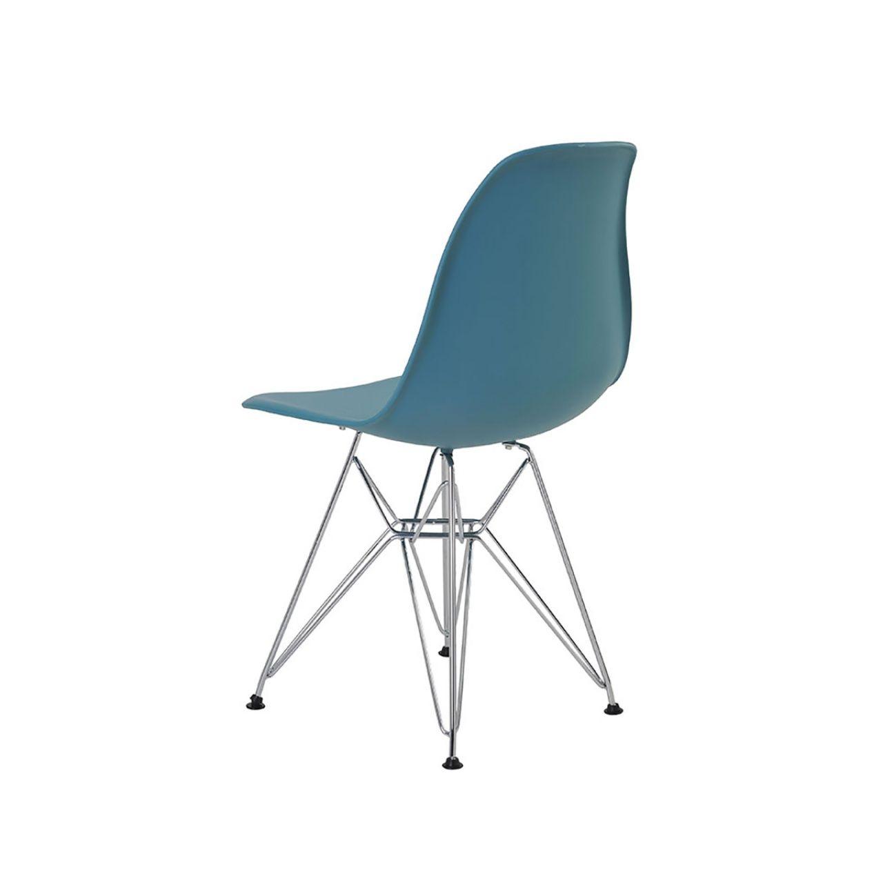 Cadeira Eames Eiffel Rivatti sem braço PP Base Cromada