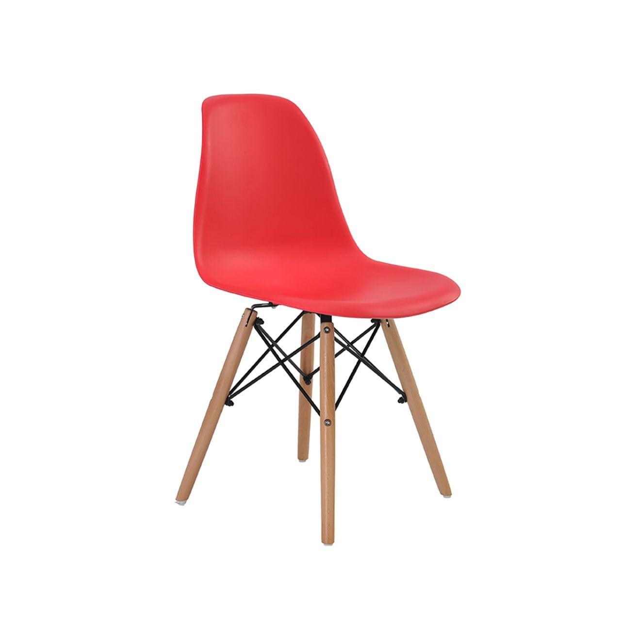 Cadeira Eames Eiffel Rivatti sem braço PP Base Madeira