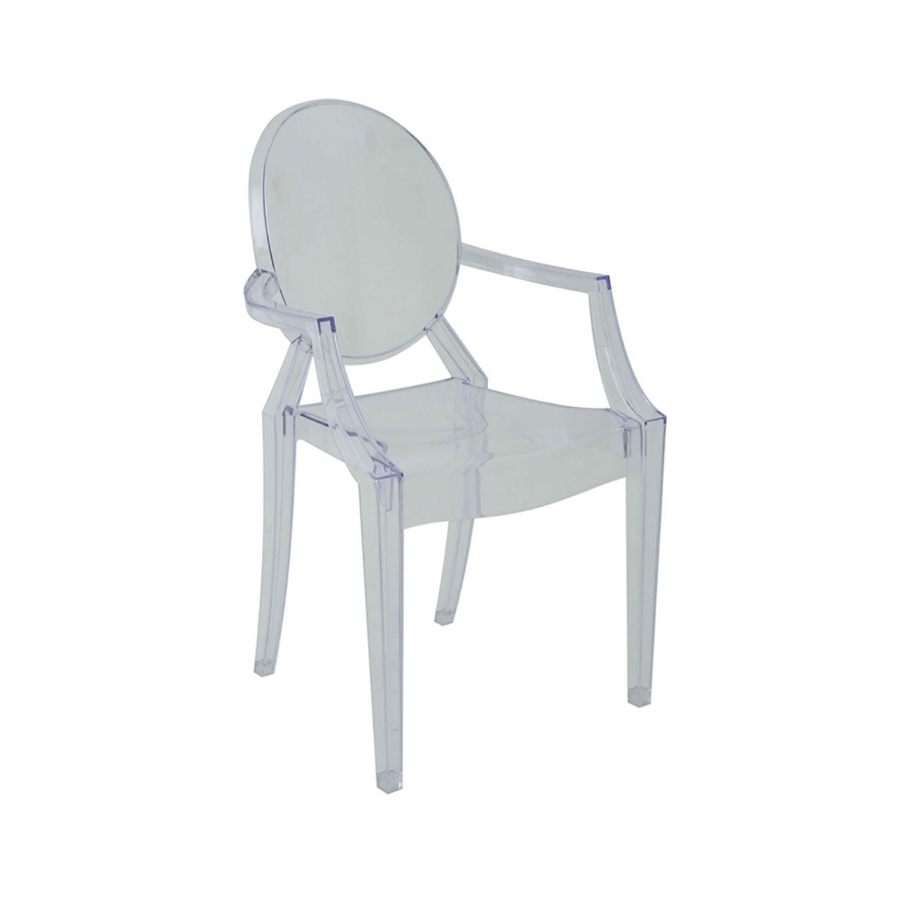 Cadeira Ghost Sofia Rivatti com braço