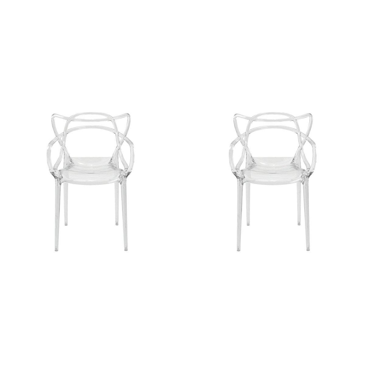 Conjunto 2 peças Cadeira Allegra Masters de Policarbonato Rivatti