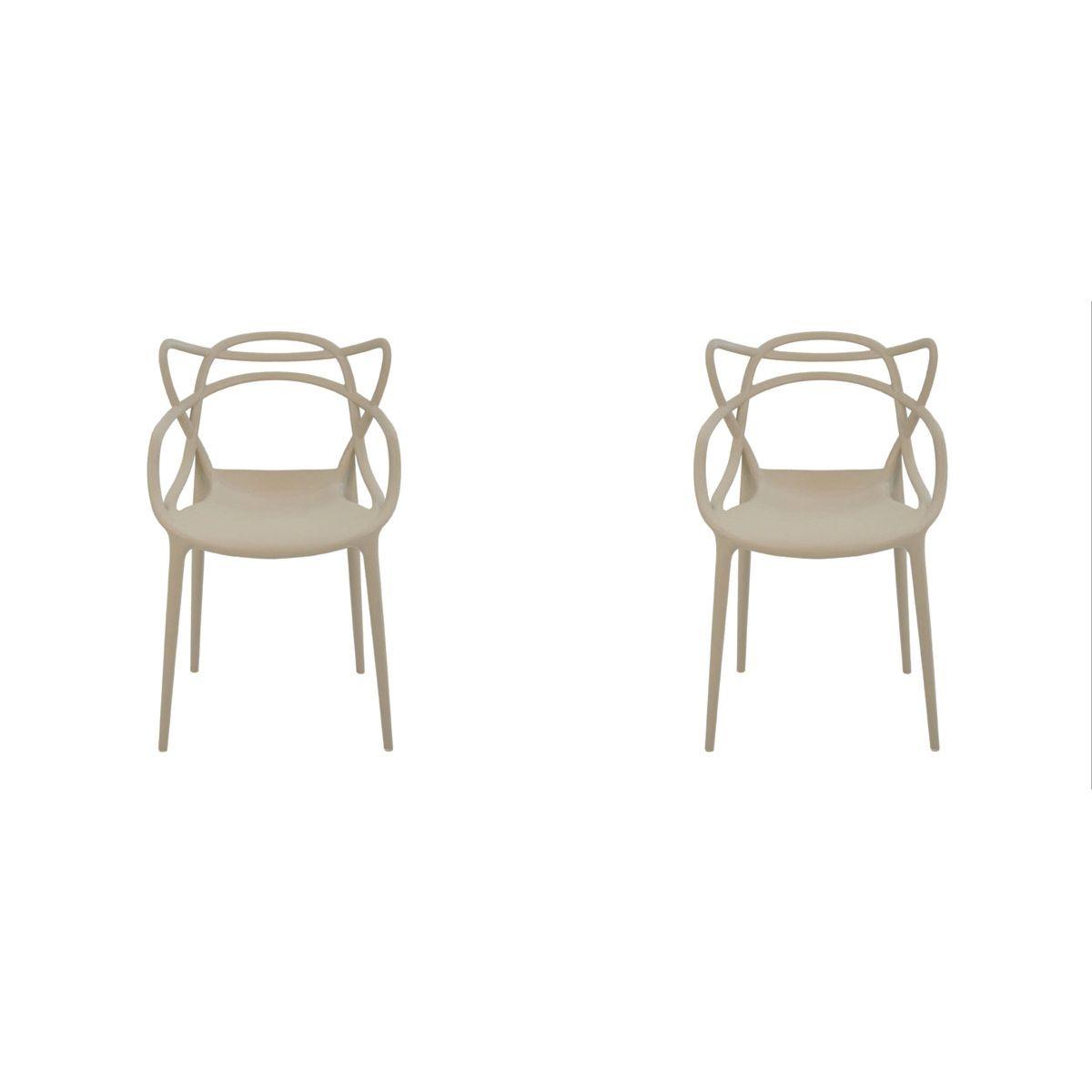 Conjunto 2 peças Cadeira Allegra Masters de Polipropileno Rivatti