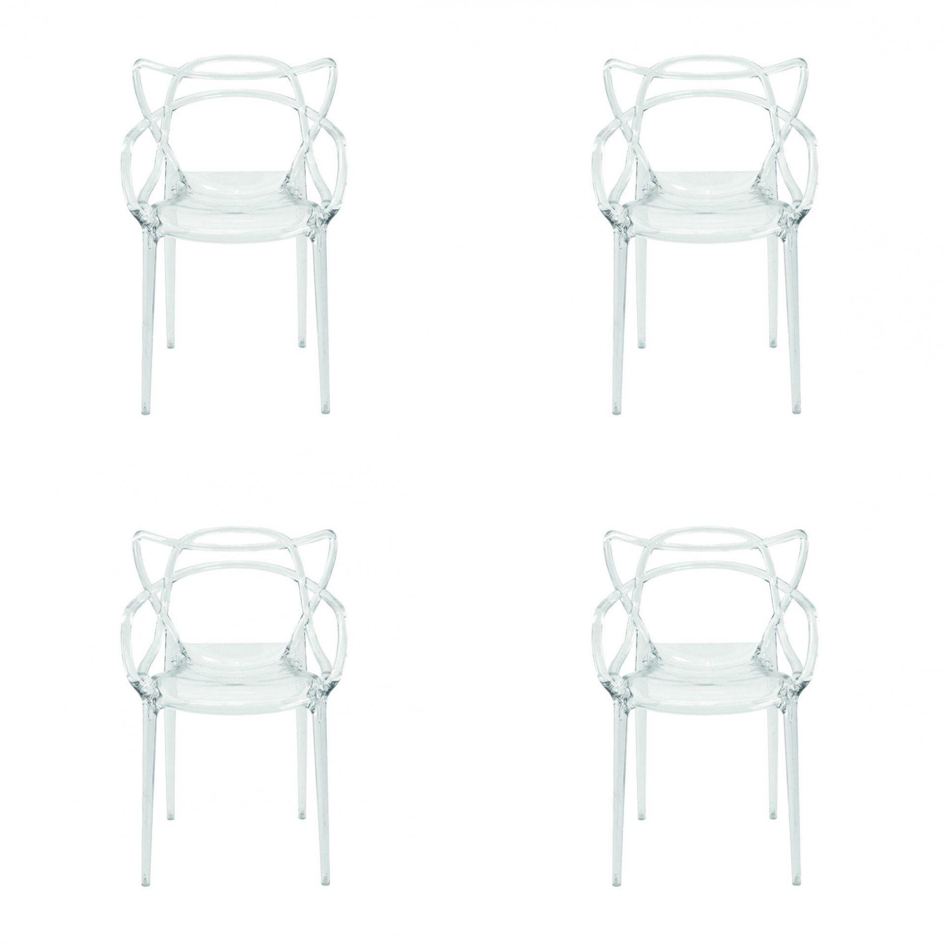 Conjunto 4 peças Cadeira Allegra Masters de Policarbonato Rivatti