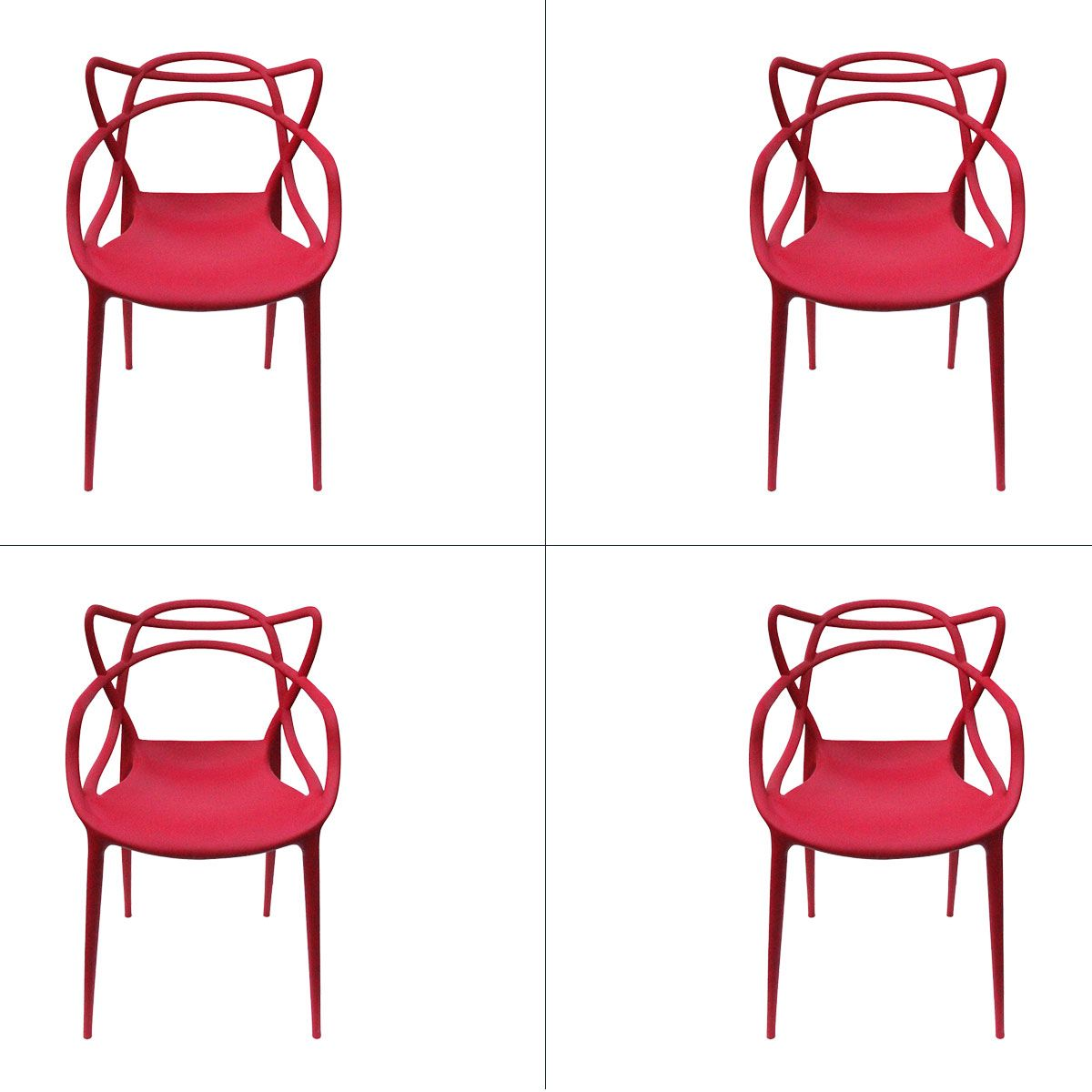 Conjunto 4 peças Cadeira Allegra Masters de Polipropileno Rivatti