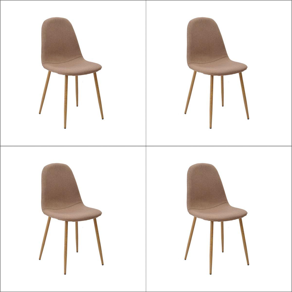 Conjunto 4 peças Cadeira Bogotá Base Clara