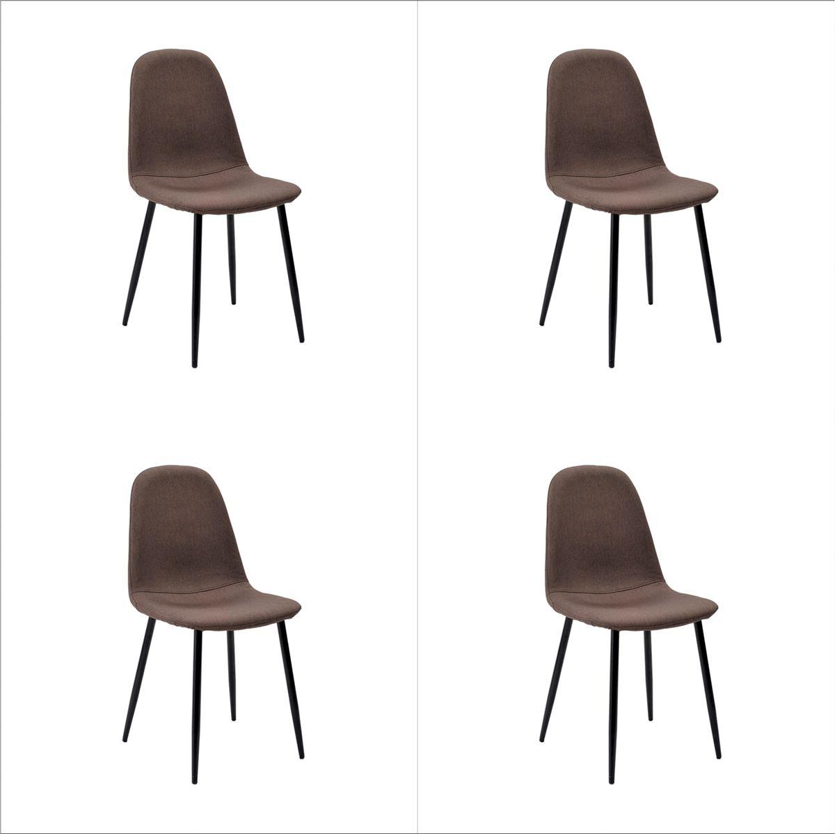Conjunto 4 peças Cadeira Bogotá Base Escura