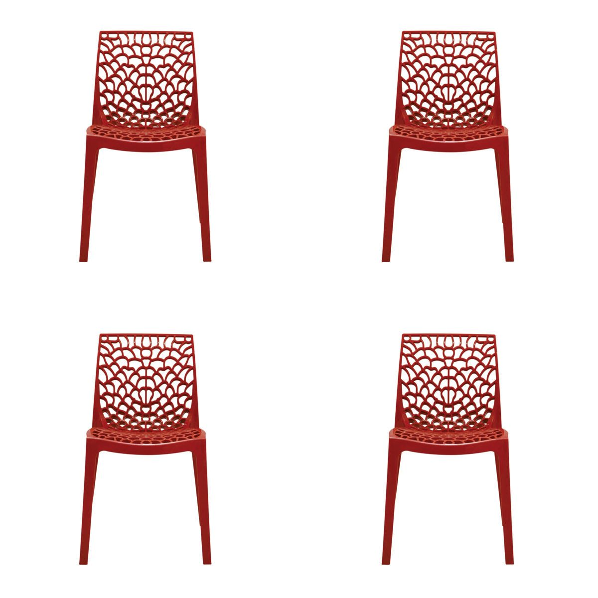 Conjunto 4 peças Cadeira Italiana Gruvyer Rivatti