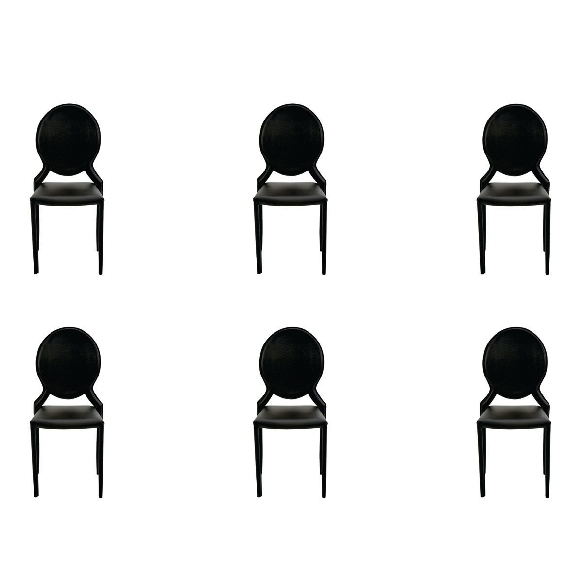 Conjunto 6 peças Cadeira Amanda Medalhão Rivatti