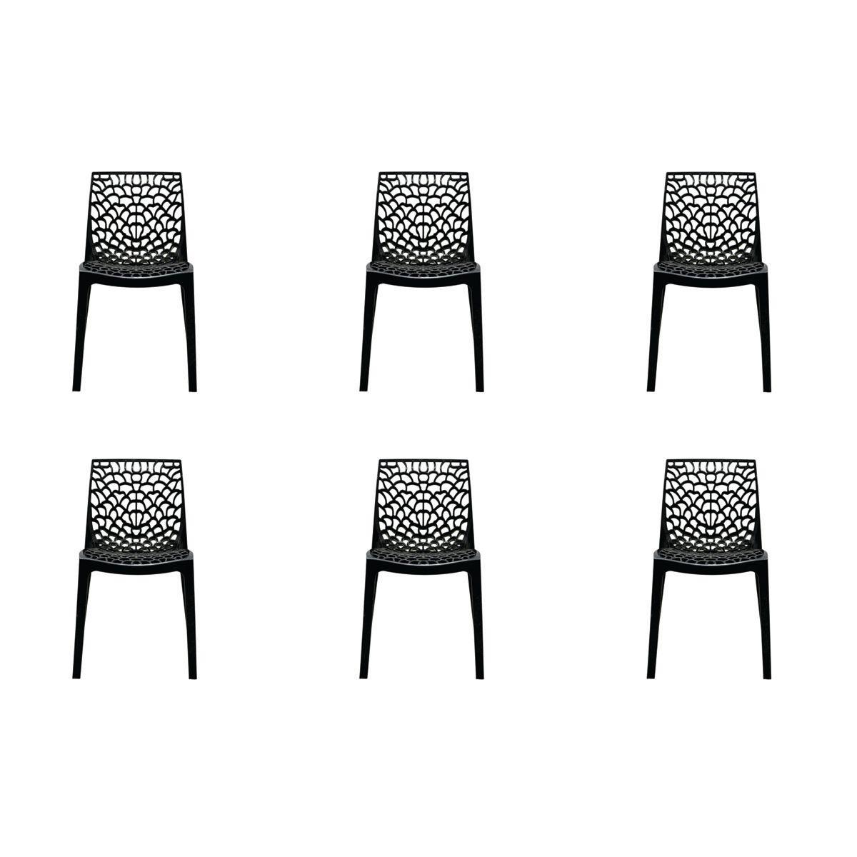 Conjunto 6 peças Cadeira Italiana Gruvyer Rivatti