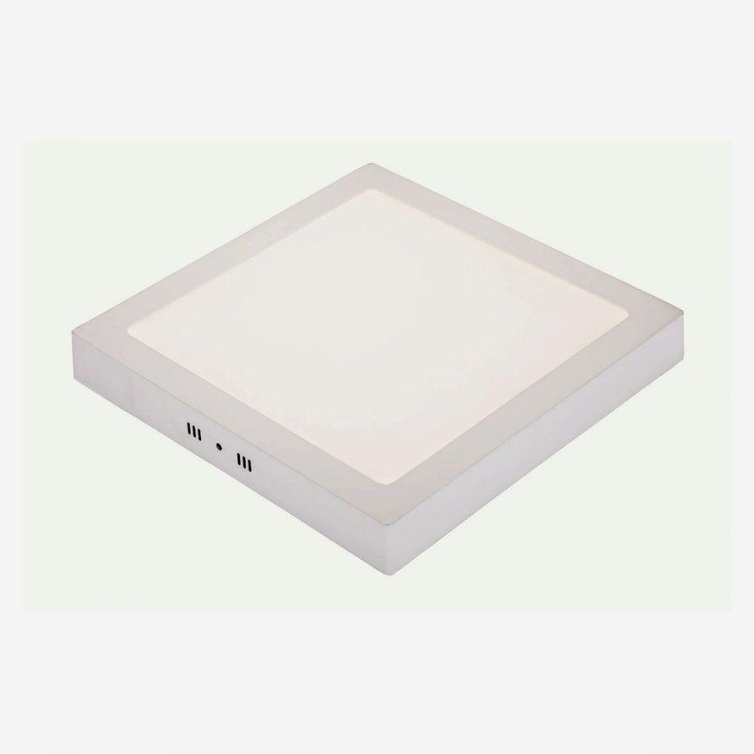 Painel De Sobrepor Pix 18W Quadrado Branco Frio