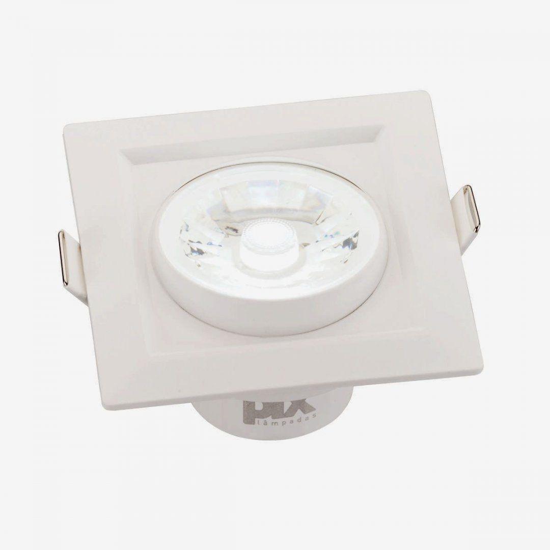 Spot Led De Embutir Pix Luminária Led 8w Quadrado Branco Frio