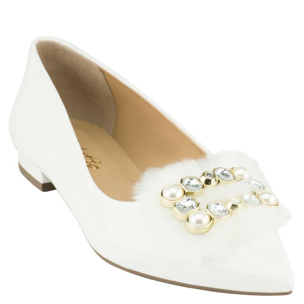 Sapatilha Elegance Verniz Branco