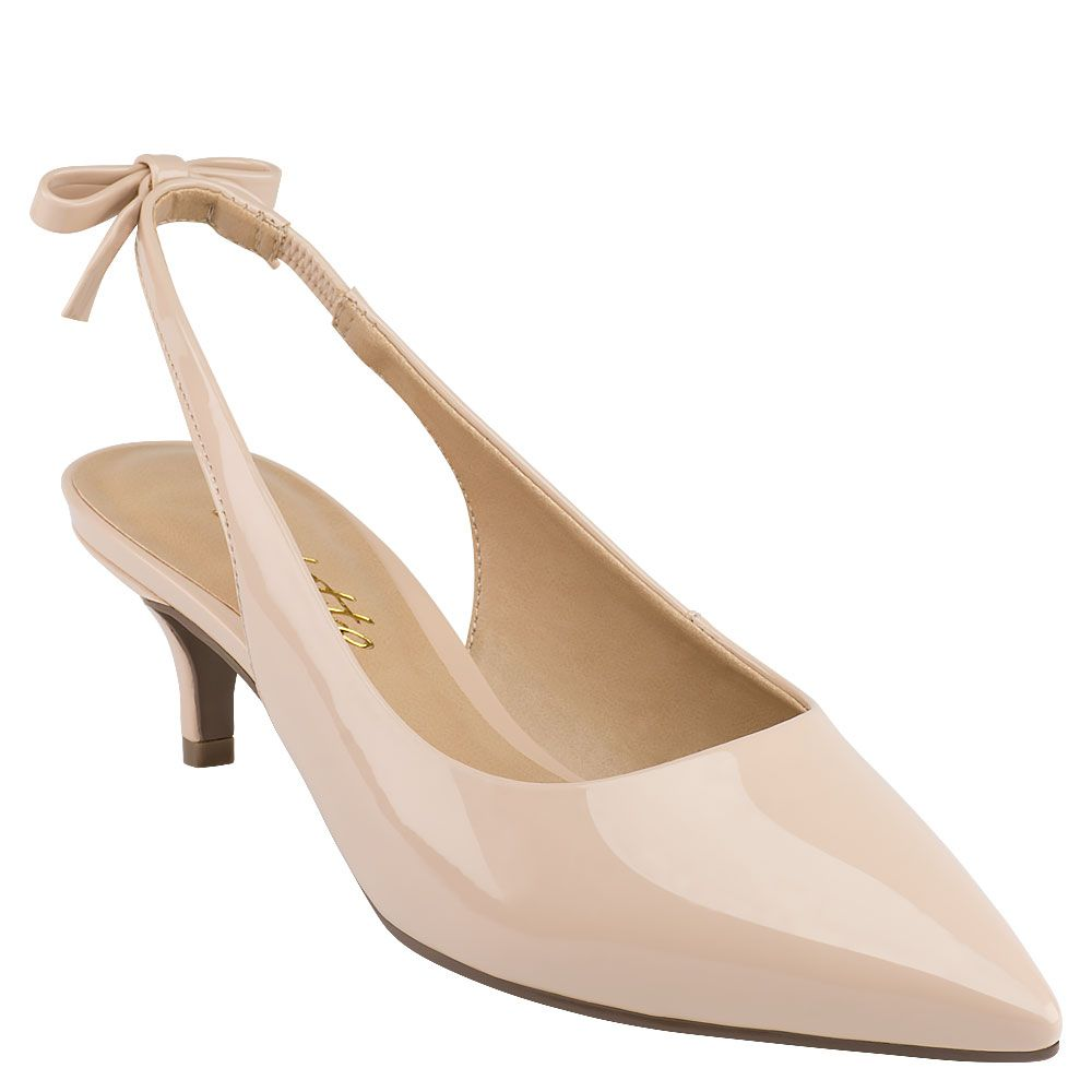 Scarpin Sling Back Lace Nude