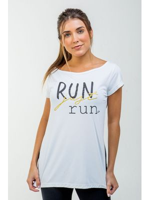 Camiseta Run Just Run BRANCO