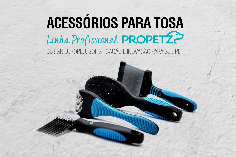 Acessórios para tosa linha profissional propetz design europeu sofisticação inovação pet shop banho tosa