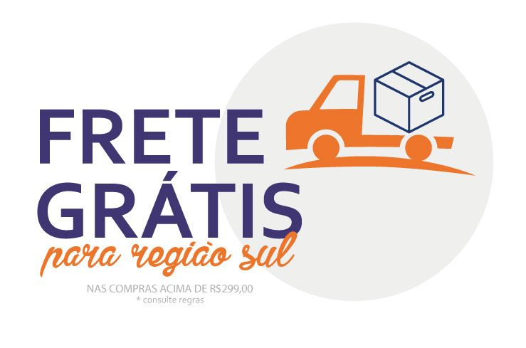 Frete Grátis para Região Sul do Brasil