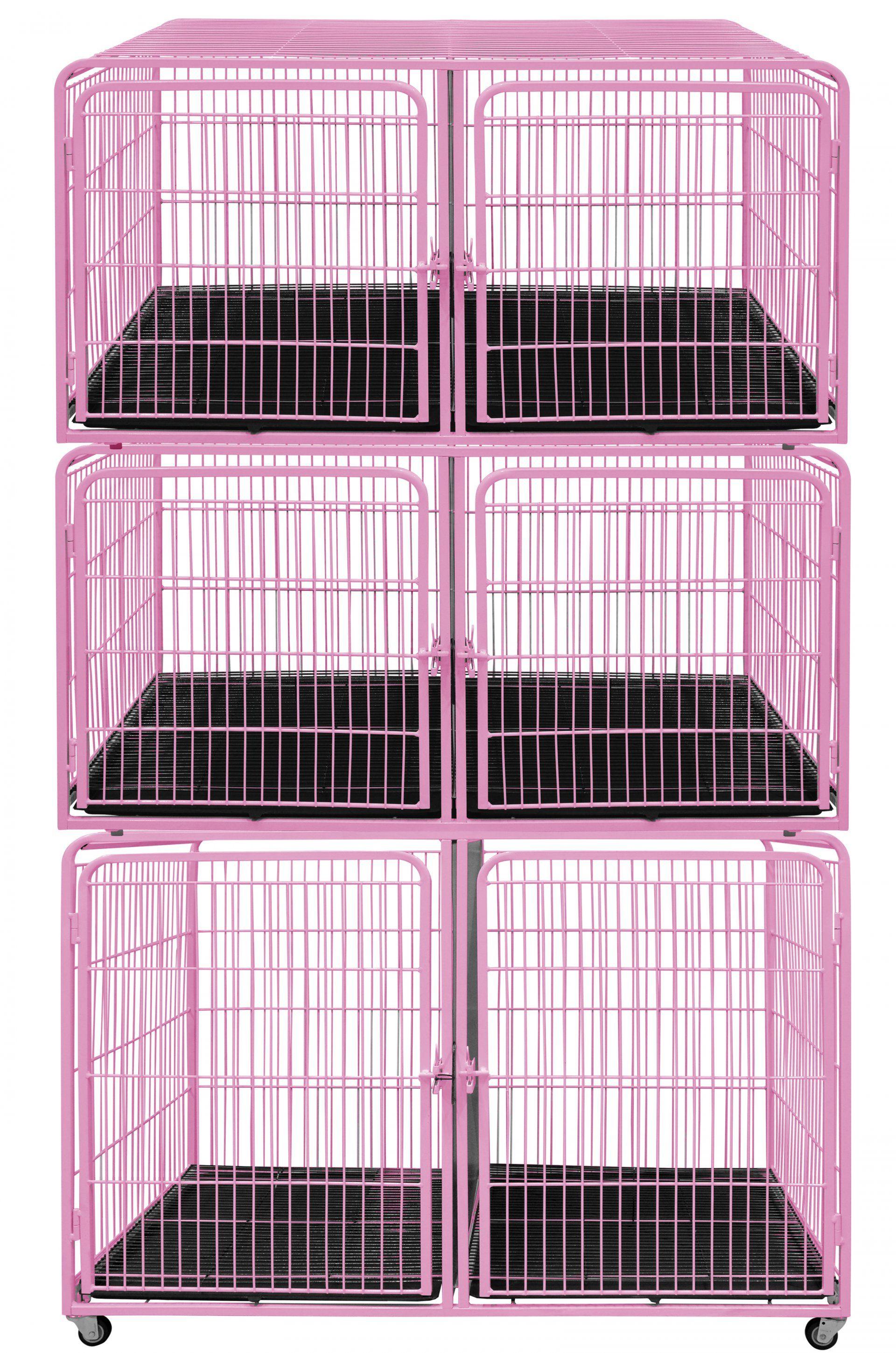 Canil/Gatil de 06 Lugares para Banho e Tosa e Pet Shop em Aço