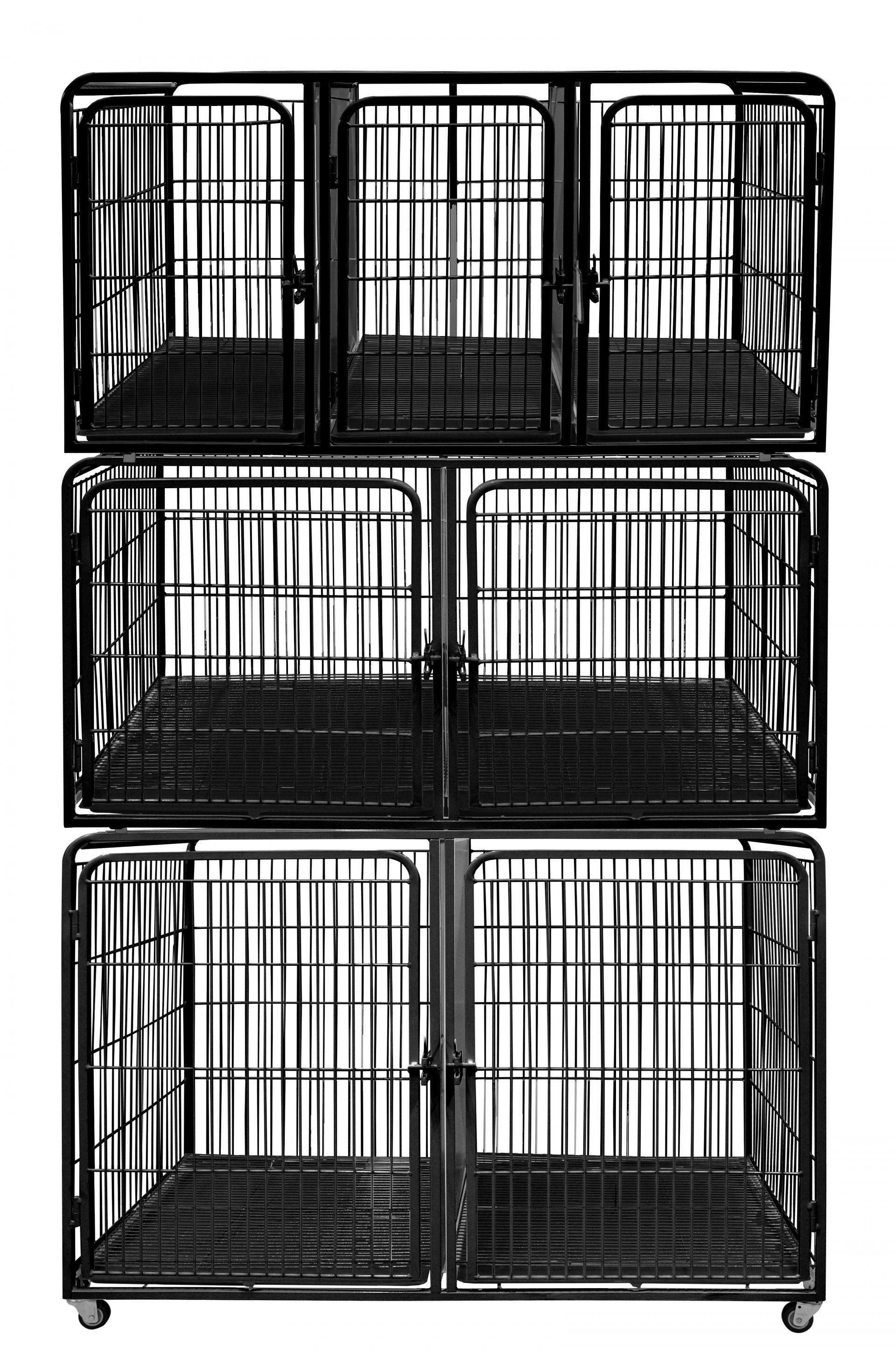 Canil/Gatil de 07 Lugares para Banho e Tosa e Pet Shop em Aço