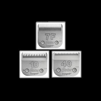 Kit de Lâminas de Tosa 03 Peças - Lâminas de Tosa Oster nº 7F, 10 e 40