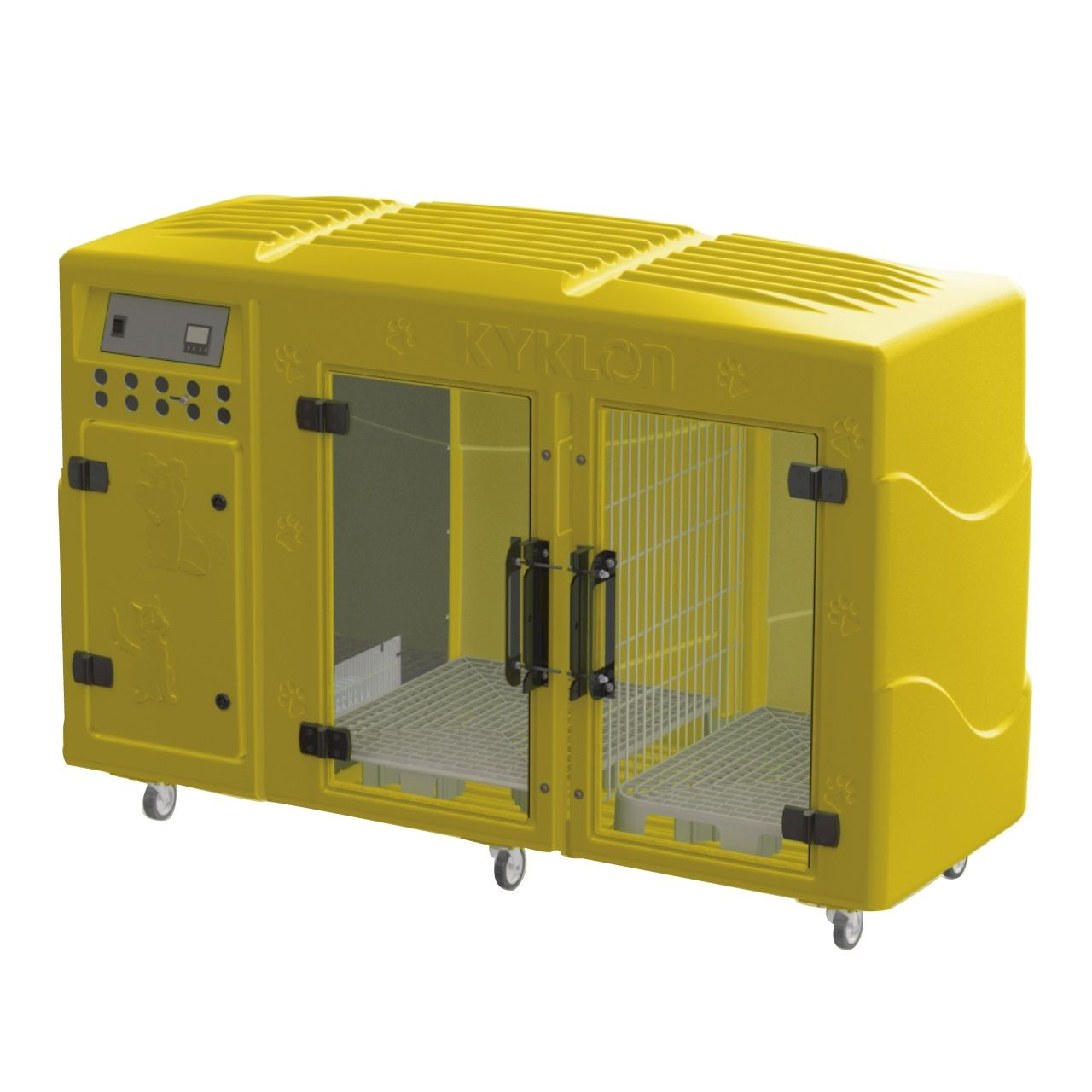 Máquina de Secar Rotomoldada Kyklon Amarela