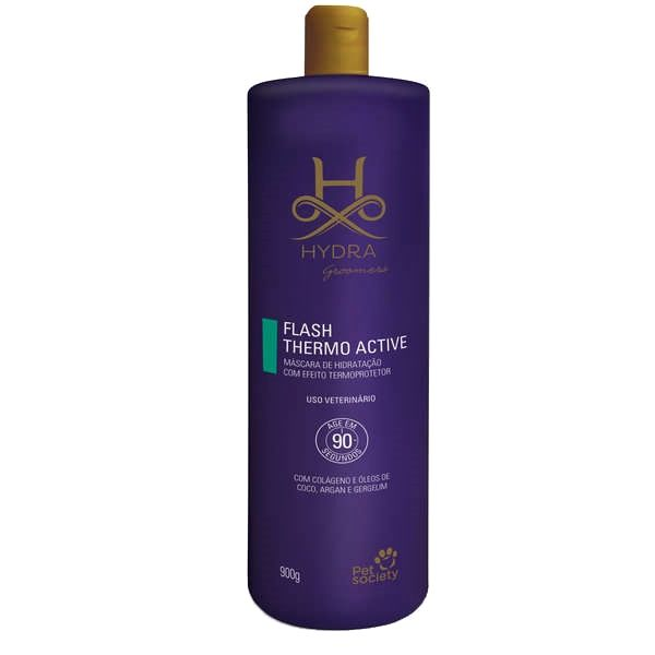Máscara de Hidratação Flash 90 Thermo Active Argan Hydra Pet Society 900g