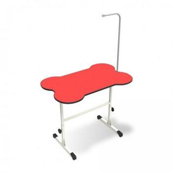Mesa de Tosa Regulável Ossinho Vermelha c/ Girafa Minag