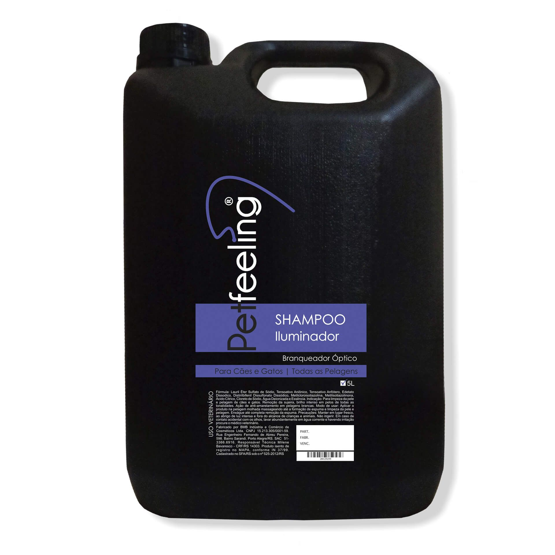 Shampoo Iluminador Pet Feeling 5L