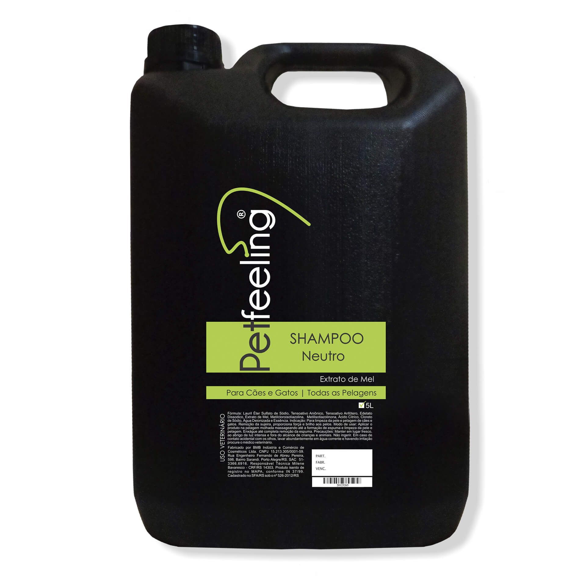 Shampoo Neutro Pet Feeling 5L