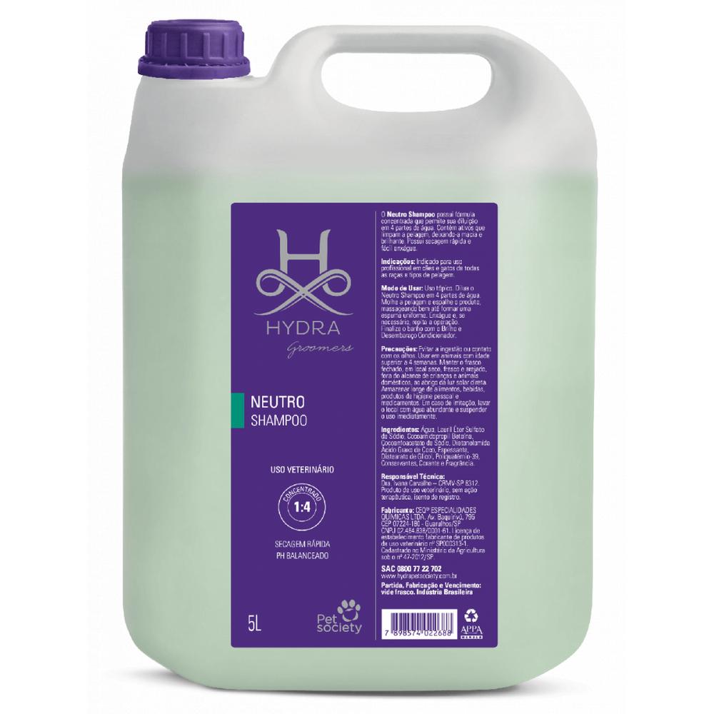 Shampoo Neutro Hydra Pet Society 5L 1:4
