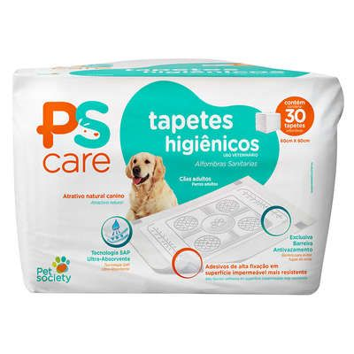 Tapete Higiênico 60x60 Pet Society PS Care (30 und)