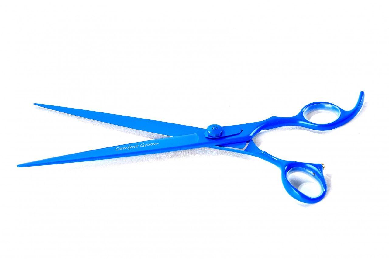 Tesoura Reta 8.5'' Azul Teflon Comfort Groom