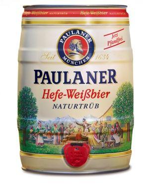 Cerveja Paulaner Hefe-Weisbier Naturtrub Barril 5 lt
