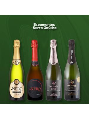 Seleção Espumantes Serra Gaúcha - Pack com 04 rótulos