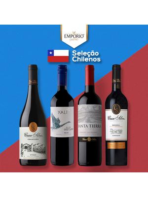 Seleção Vinhos Chilenos - Pack com 04 rótulos