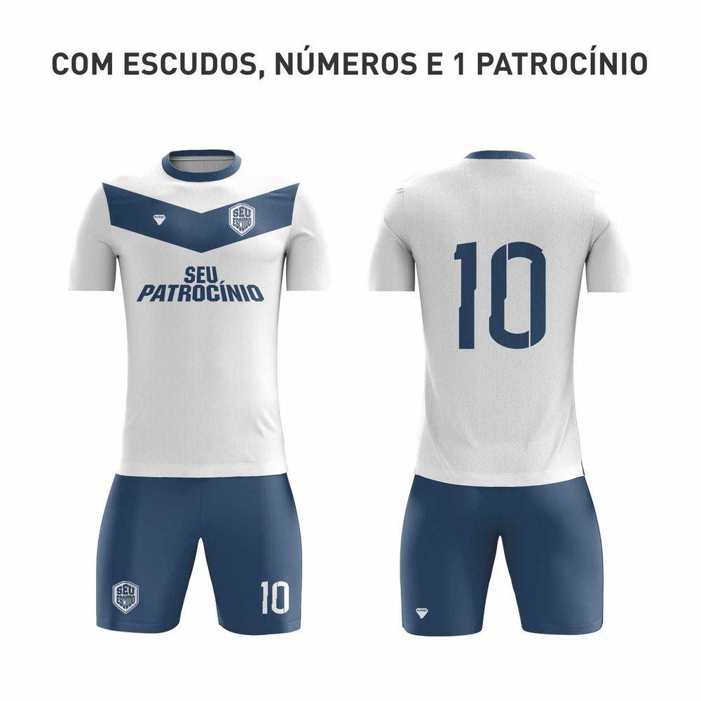 KIT - Camiseta + Calção Dryfit com detalhes costurados - MODELO COSTURADO 90246b2054281
