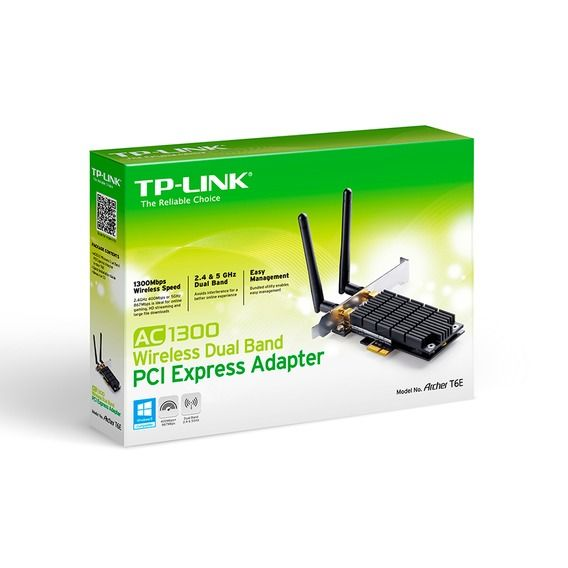 Adaptador Wireless Dual Band AC1300 PCI-Express TP-Link - Archer T6E