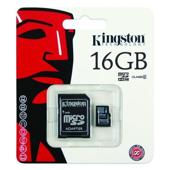 Cartão de Memória Kingston 16GB Micro SDHC I Class 10 + Adaptador SD - KC-C3016-4V1
