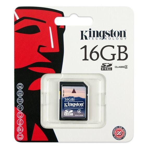 Cartão de Memória Kingston 16GB SDHC Class 4 - SD4/16GB