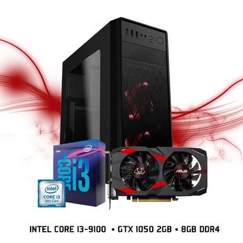 Computador FGTEC Gamer Fatality (Intel Core I3-9100, GTX 1050 2GB, 8gb DDR4 ,HD 1TB)