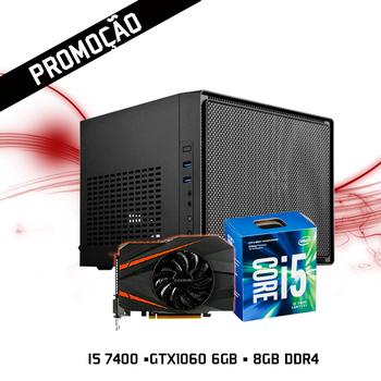 Computador FGTEC Gamer Nano (Intel i5 7400, Asus Strix Z270I, GTX1060 6GB, 8GB DDR4, 240GB SSD)