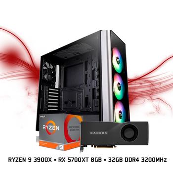 Computador FGTEC Gamer Navi 3000 (Ryzen 9 3900X , RX 5700XT, 32GB DDR4 3200MHz)