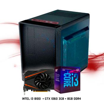 Computador FGTEC Gamer Riven (Intel i3 8100, GTX 1060 3GB, 8GB DDR4, 1TB HD)